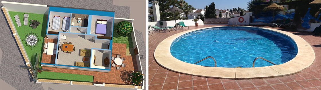 Romplan + pool